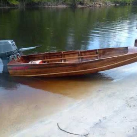 "70 MPH+ 100 feet or less ""Dixie Twister too"" Tunnel strip boat TOP GUN of wood boats"