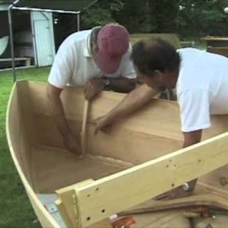 Rob Barker and crew building the Bennett Skiff and Atkins Skiff
