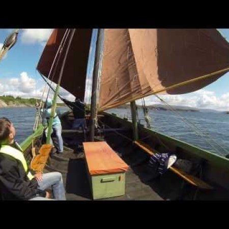 "Norwegian wooden sailing boat: The ""gavl boat"" Notmann, June 2013"