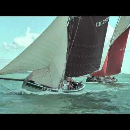 Mersea Week 2010 Fishing Smack Racing on the River Blackwater aboard Peace CK171