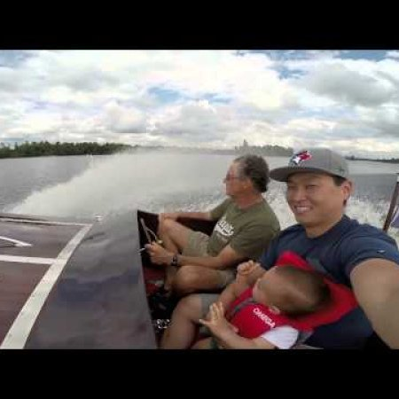 Riding in Papa's Boat