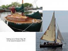 Design 077 sailing from Green Bay, Michigan, 2014