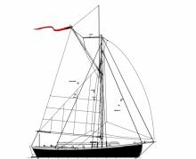 Kahuna Nui 37' cruising sailboat for wood/epoxy construction