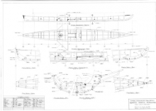 Petaluma rowing shell plans page one