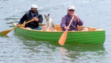 Simon's canoe fits two men, and a dog — Simon Watts