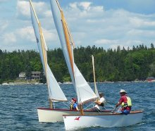 Goat island skiffs in mixed fleet racing - small reach regatta