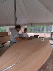 Adults or a team of adults and youth can build their own boats