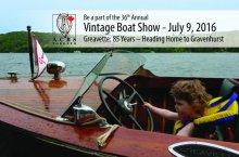 Vintage Boat Show poster.