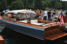 The Alton Bay Boat Show on Lake Winnipesaukee