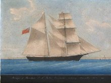 A replica of an 1861 painting of AMAZON (later, MARY CELESTE).