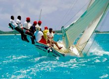 "Bahamas' Out Islands Regatta talk. Photo: ""Gorgeous Peacemaker"" by Art Paine"