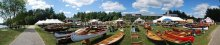 wood canoe boat show collectors old town canoes thompson canoe