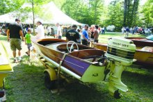 Vintage boats and lake and boating memorabilia are auctioned