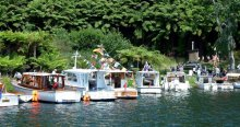 Lake Rotoiti Wooden Boat Parade.