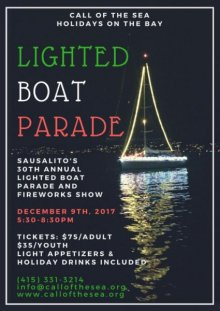 Sausalito's 30th Annual Lighted Boat Parade and Fireworks