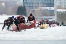 Défi canot à glace Montréal / Montreal ice canoe challenge