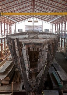 The CORONET before her restoration began