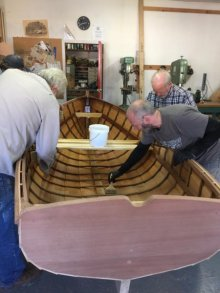Traditional Clench Nail Lapstrake Boatbuilding Course.
