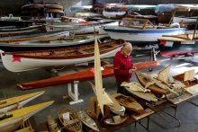 Fall Marine Surplus Sale at CWB. Photo: Greg Gilbert / The Seattle Times.