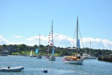 Classic boats on parade in Newport Harbor