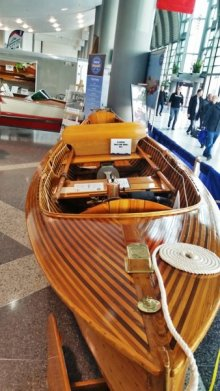 1928 Dispro at the Toronto International Boat Show photo by Chris and Julie Bullen
