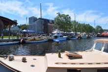 The Annual Woodenboat Show held at Mystic Seaport Museum, Connecticut.