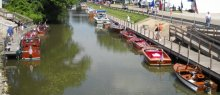 Antique Boats On The Canal