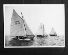 Fish Class racing in 1916 with MANATEE (#788) in the foreground.