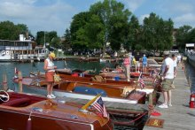 Photo from Finger Lakes Antique & Classic Boat Show.