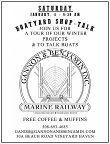 Boatyard Shop Talk at Gannon and Benjamin Marine Railway