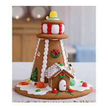 Gingerbread Lighthouse Display