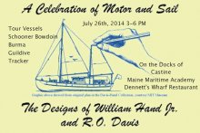 Visit the vessels Bowdoin, Guildive, Burma and Tracker in Castine July 26th 3-6pm