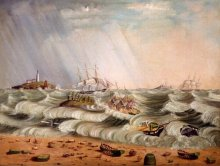 Detail from the Wreck of the HANOVER, John C. Tallman, 1851.
