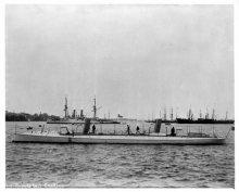 Photo: CUSHING (HMCo. #152) torpedo boat in 1890.