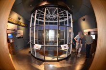 Second-order Fresnel lens exhibit. Photo courtesy Maine Maritime Museum.