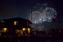 Fireworks on Seattle's Lake Union from The Center for Wooden Boats