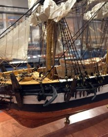 HMS BEAGLE, built by Tony Mallia, in Masters of Miniature Model Ship Show