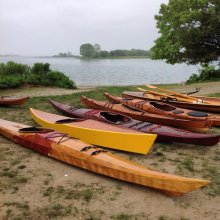 Meet at the Beach: A gathering of kayak builders. Photo: Guillemot Kayaks.