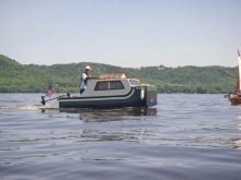 Boating on Lake Pepin, Minnesota/Wisconsin.