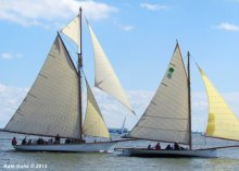 Annual Classic Wooden Sailboat Rendezvous and Race. Photo: Kate Gahs.