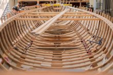 First Friday Tour at Northwest School of Wooden Boatbuilding