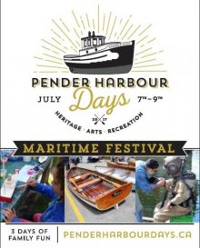 Pender Harbour Days, July 7-9, 2017, Madeira Park, BC.