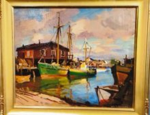Emile Gruppe painting to be raffled as a benefit fundraiser.