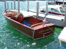 Presque Isle Harbor Wooden Boat Show, held in Michigan.
