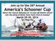 The Schooners Are Coming! – Americas Schooner Cup – March 29, 30, San Diego