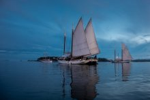 Maine Windjammer Association WoodenBoat Sail-In. Photo by Fred Leblanc Photography.