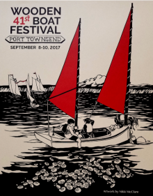 41st Annual Port Townsend Wooden Boat Festival poster by Nikki McClure