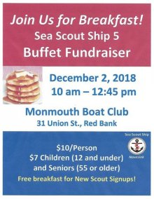 Sea Scout Ship 5 Breakfast Fundraiser