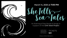 She Tells Sea Tales: an evening of sea stories to support the Girls Boat Project