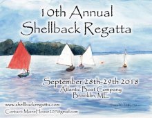 10th Annual Shellback Regatta. Poster by Sarah Pedersen.